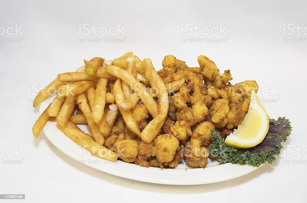 fried seafood platter royalty-free stock photo