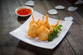 Six Fried Shrimps
