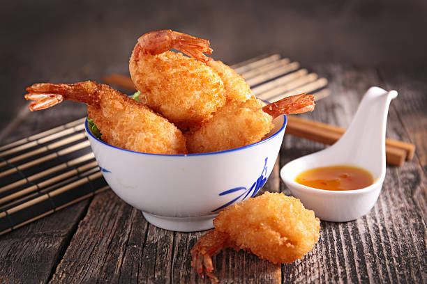 fried shrimp fried shrimp fritter stock pictures, royalty-free photos & images