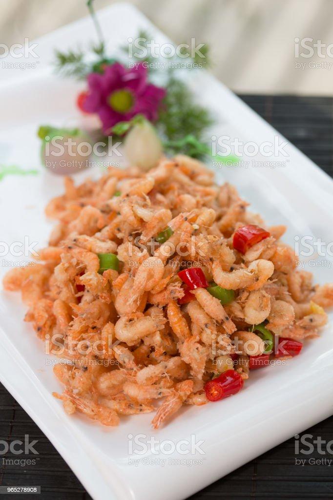 Fried shrimp zbiór zdjęć royalty-free