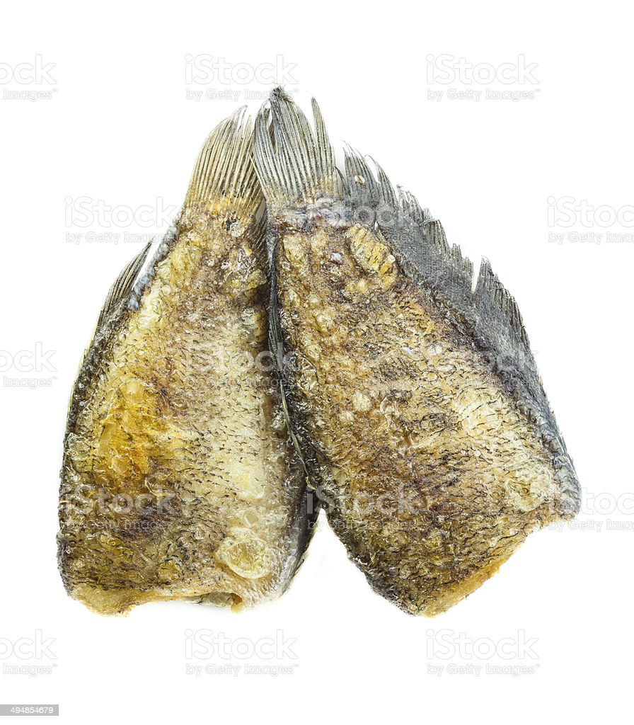 Fried Snakeskin gourami royalty-free stock photo