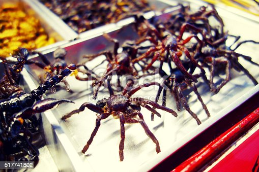 istock Fried spider at Khao San Road in Bangkok, Thailand 517741802