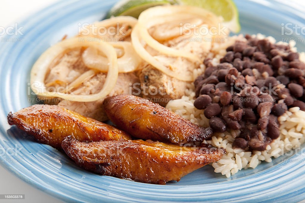 Fried Sweet Plaintains - Cuban Food stock photo