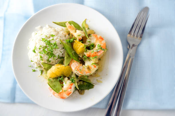 Fried tiger prawn shrimp dish with sugar peas onion oranges and rice picture id1180362206?b=1&k=6&m=1180362206&s=612x612&w=0&h=w6eisg3gdv0u1phkfxfpnugjo6z wp su3er9 81g5a=