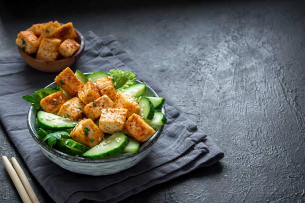 Tofu frit salade - Photo