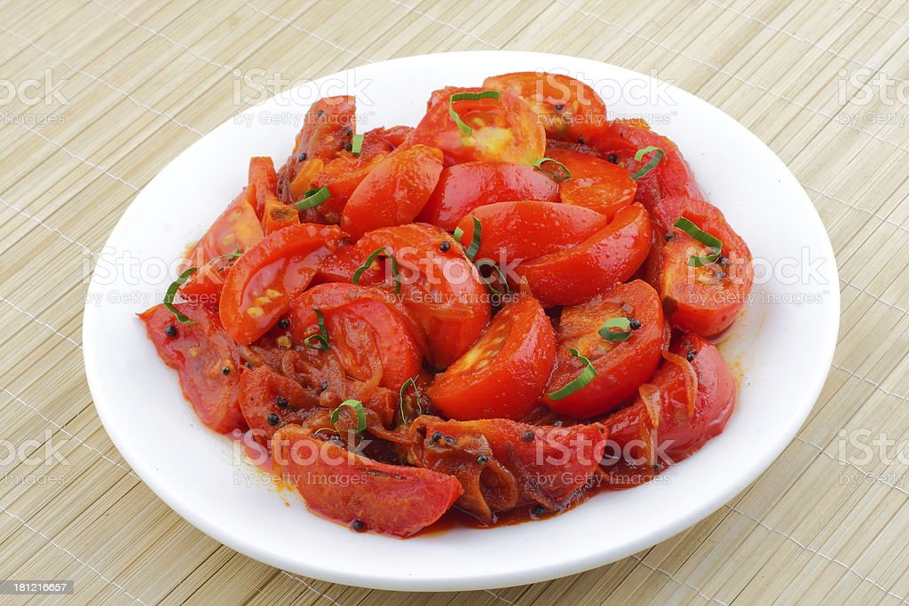 Fried tomatos royalty-free stock photo