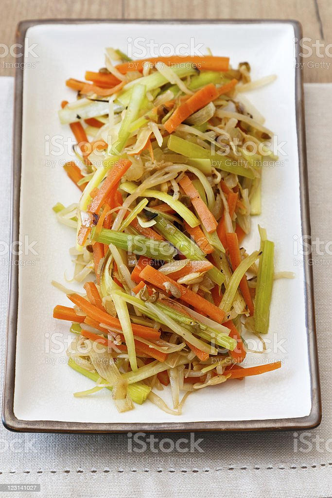 Fried Vegetables royalty-free stock photo