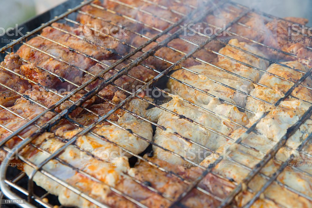 fried wings and ribs royalty-free stock photo