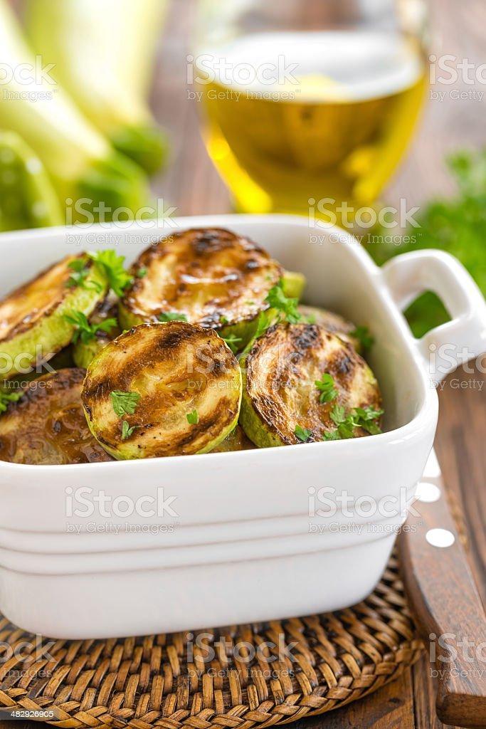 Fried zucchini royalty-free stock photo