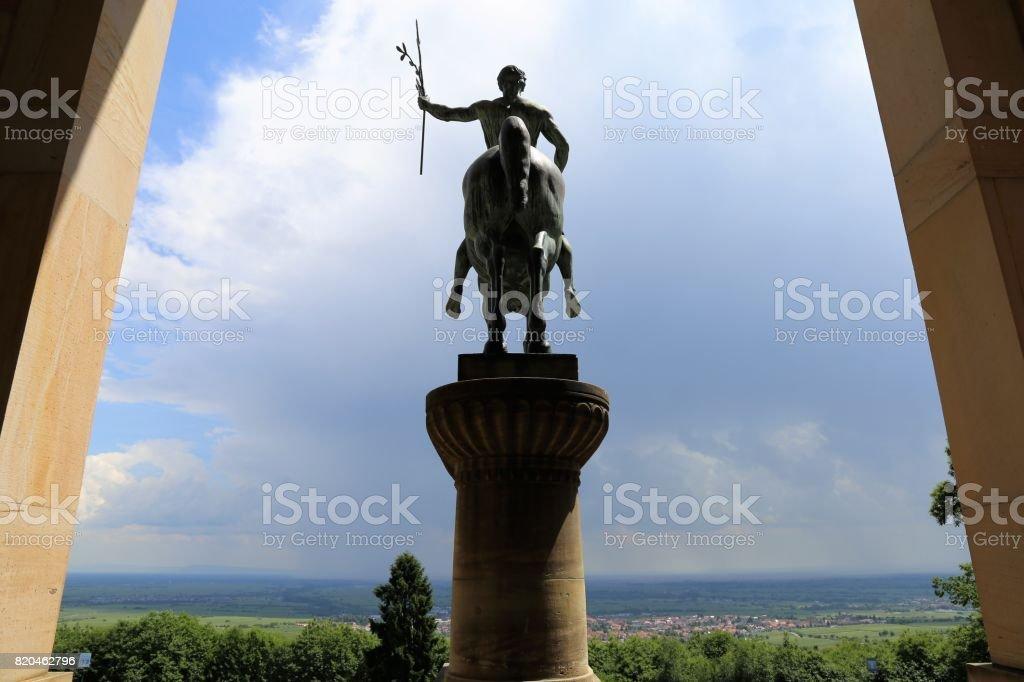 Friedensdenkmal (Peace monument), St. Martin (Saint Martin), Rhineland-Palatinate, Germany stock photo