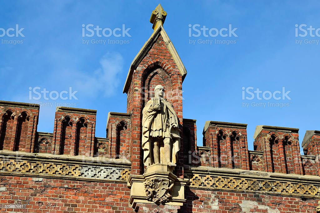 Friedland gate neo-gothic fortress 19th century. Kaliningrad, Russia stock photo