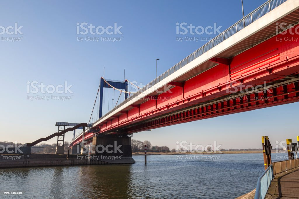 friedrich ebert bridge duisburg germany stock photo