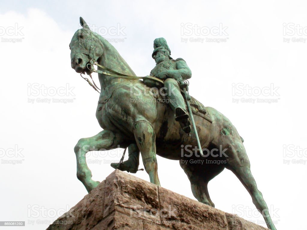 Friedrich III On Horse Statue Scene In Cologne Germany Europe stock photo