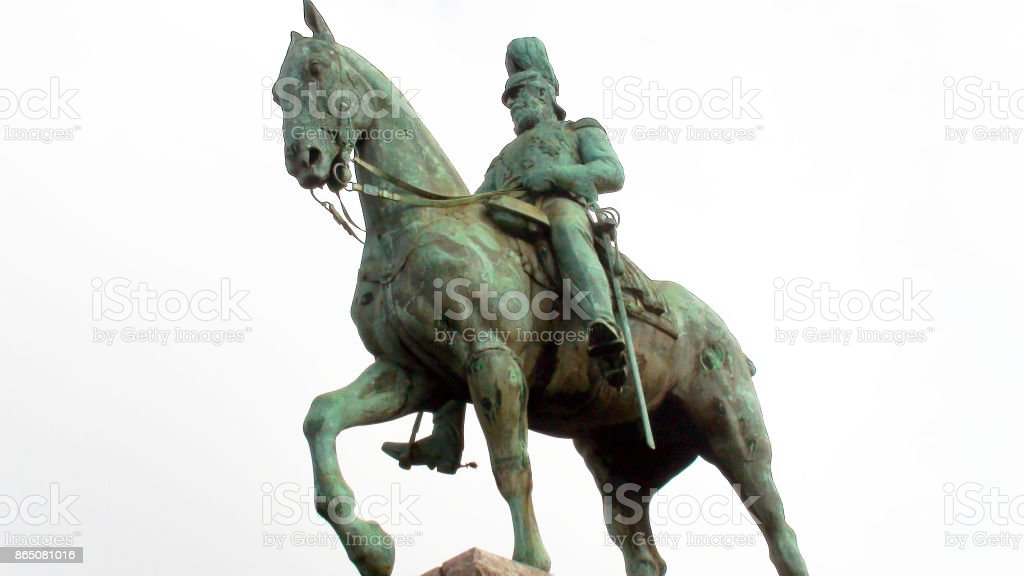 Friedrich III On Horse Statue Scene In Cologne.Germany Europe stock photo
