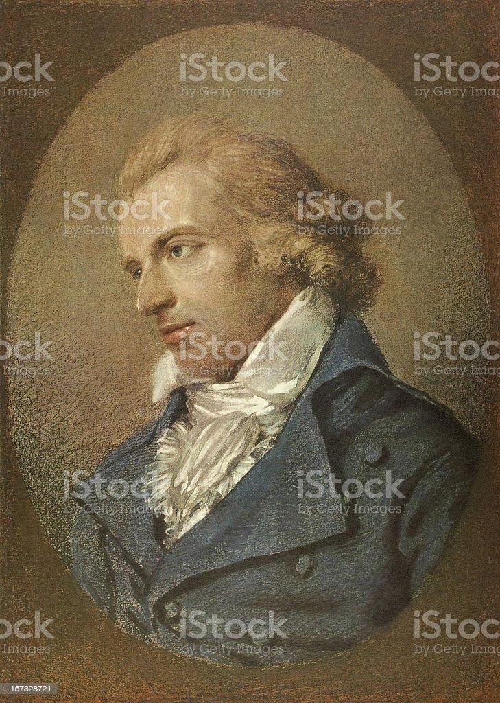 Friedrich Schiller portrait stock photo