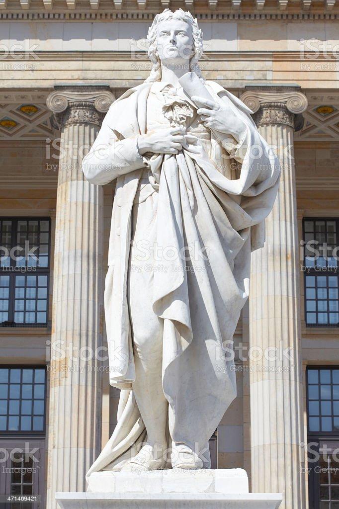 Friedrich Schiller statue stock photo