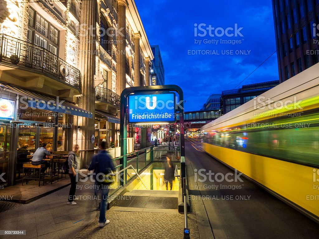 Friedrichstrasse in Berlin, Germany stock photo