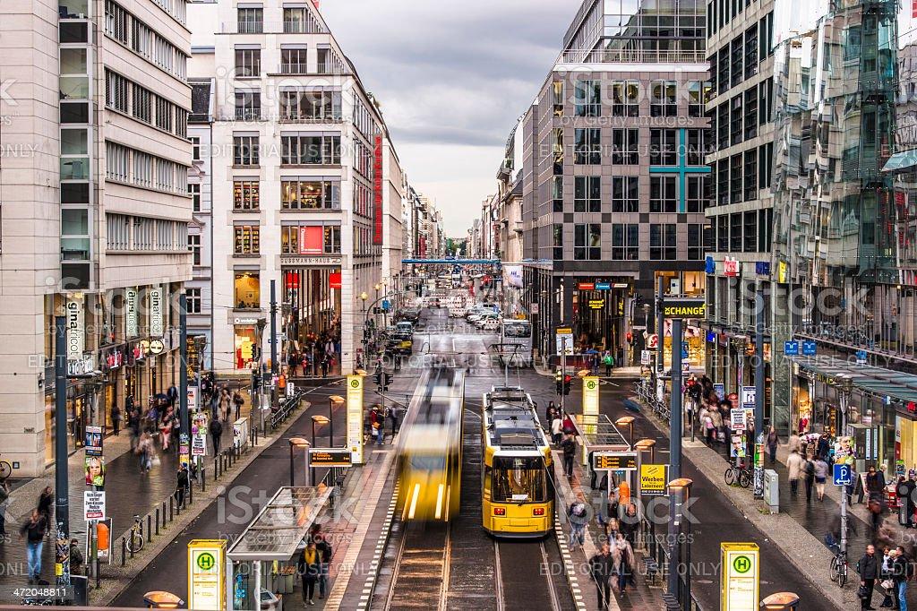 Friedrichstrasse Street in Berlin stock photo