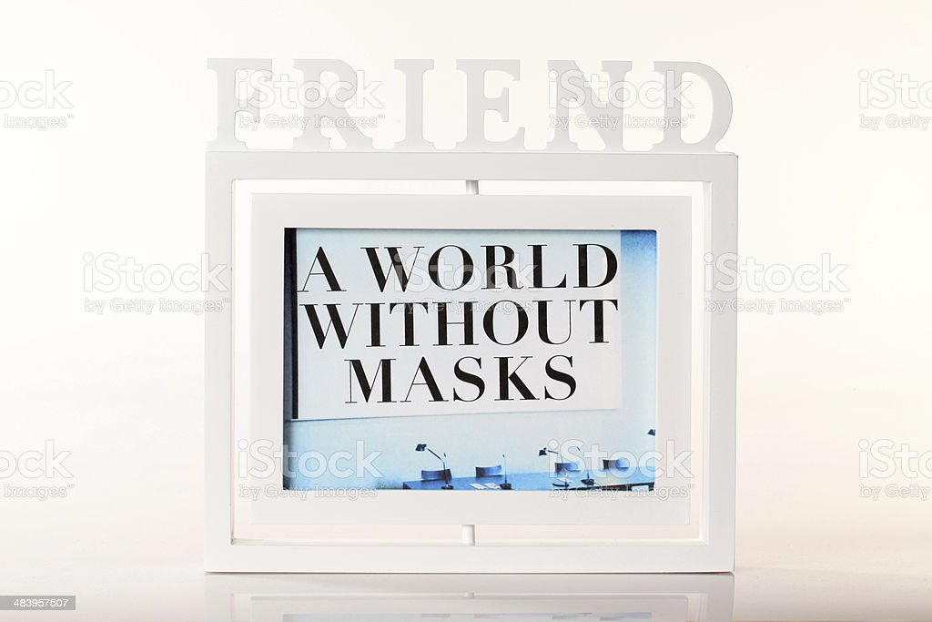 Friend concept - a world without masks royalty-free stock photo