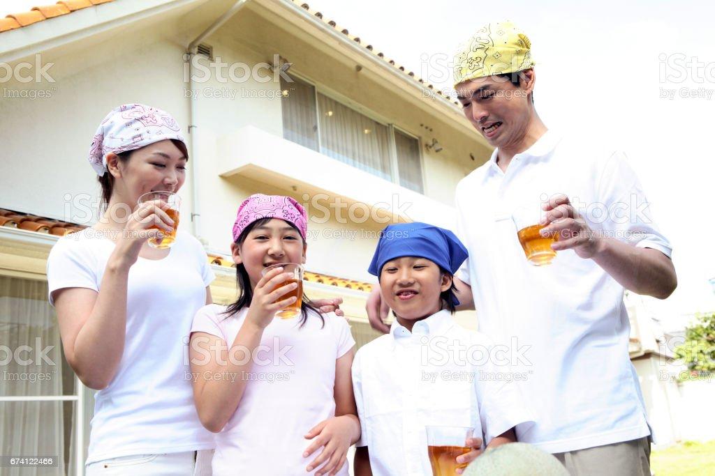 Friend family royalty-free stock photo
