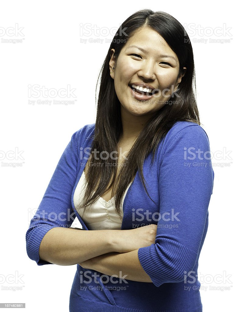 Friendly Asian Woman Isolated royalty-free stock photo
