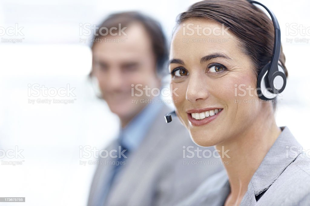 Friendly assistance is just a call away royalty-free stock photo