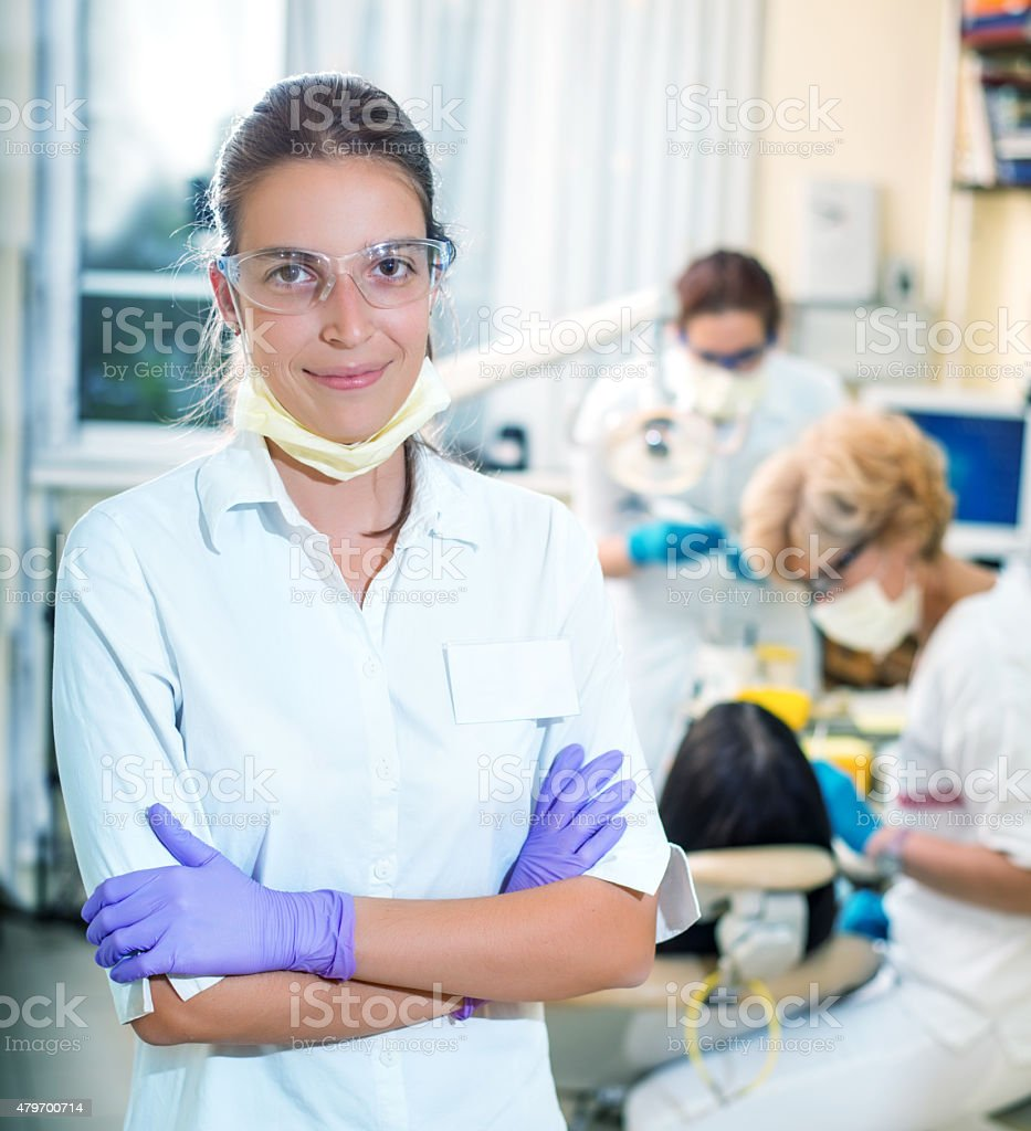 Friendly assistant stock photo