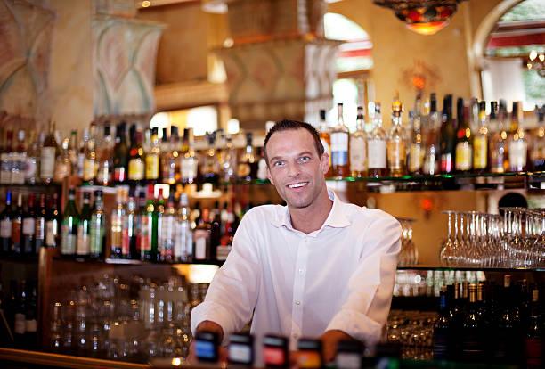 Friendly Bar Tender stock photo