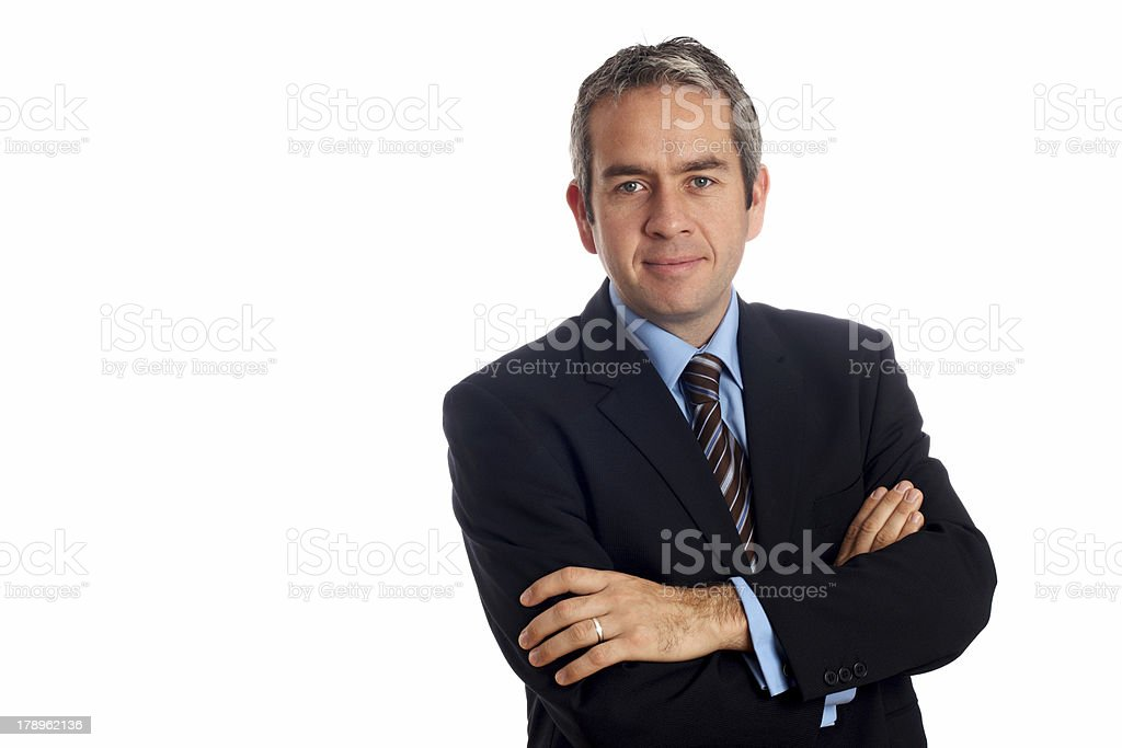 Friendly business man royalty-free stock photo