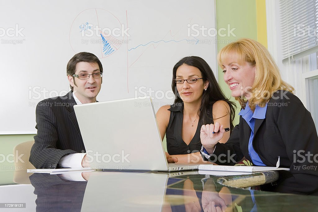Friendly business meeting royalty-free stock photo