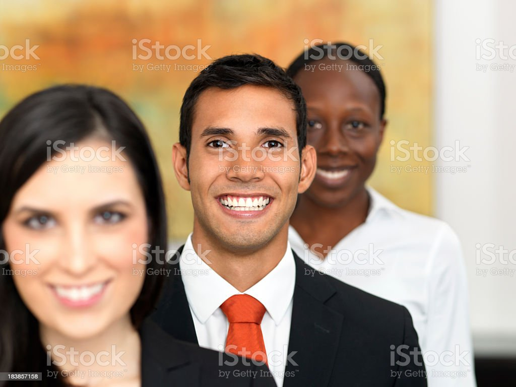 Friendly business team royalty-free stock photo