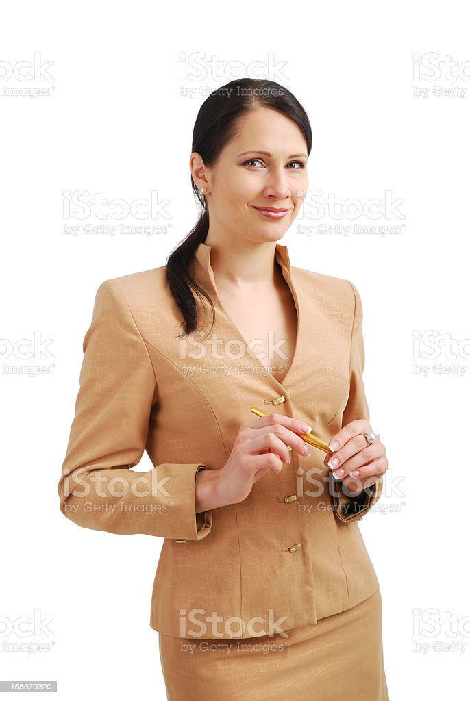 Friendly businesswoman. royalty-free stock photo