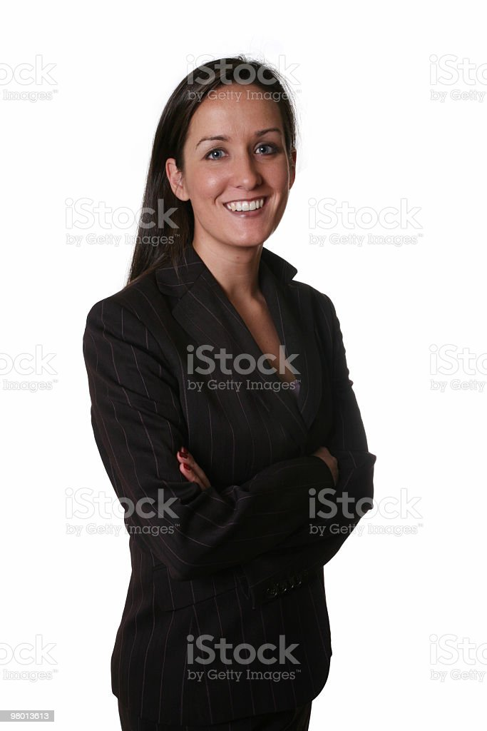 Friendly businesswoman royalty free stockfoto