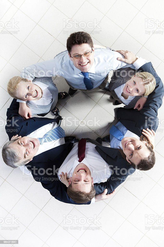 Friendly company royalty-free stock photo
