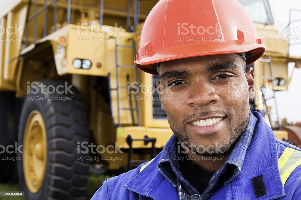 Friendly Constructions Worker stock photo