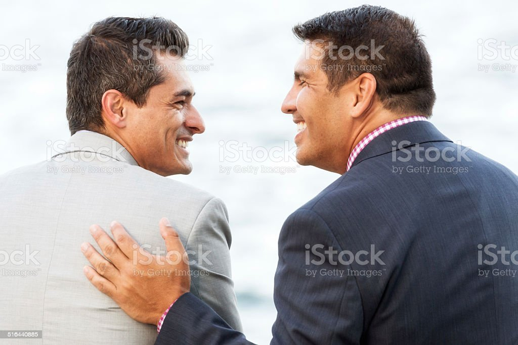Friendly Conversation stock photo