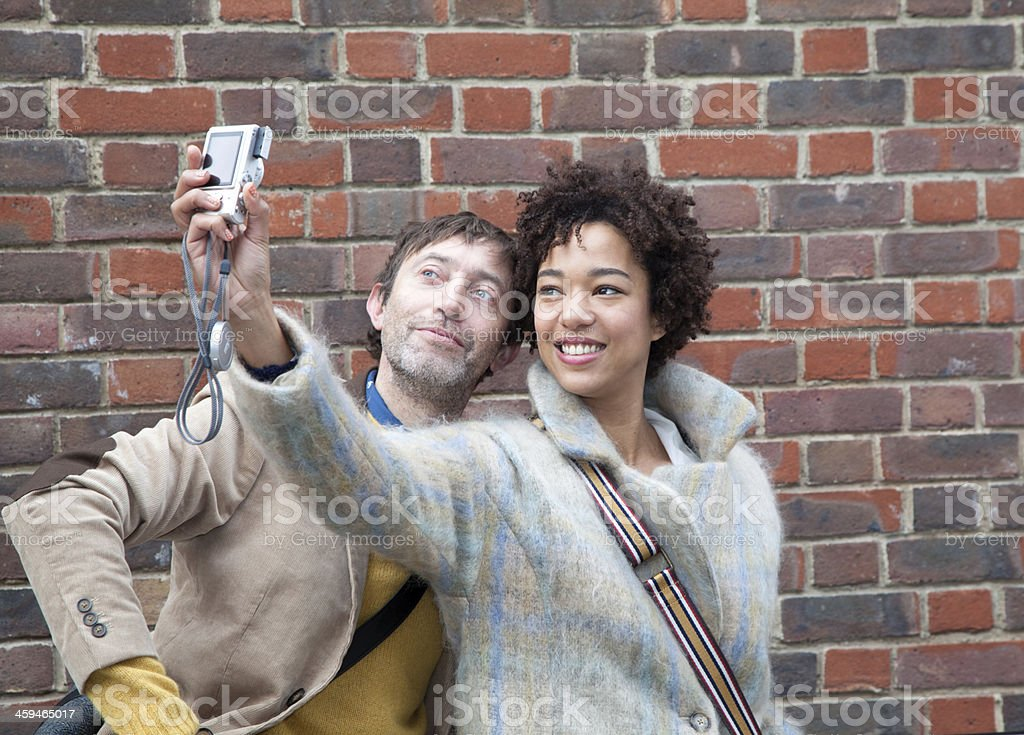 Friendly couple royalty-free stock photo