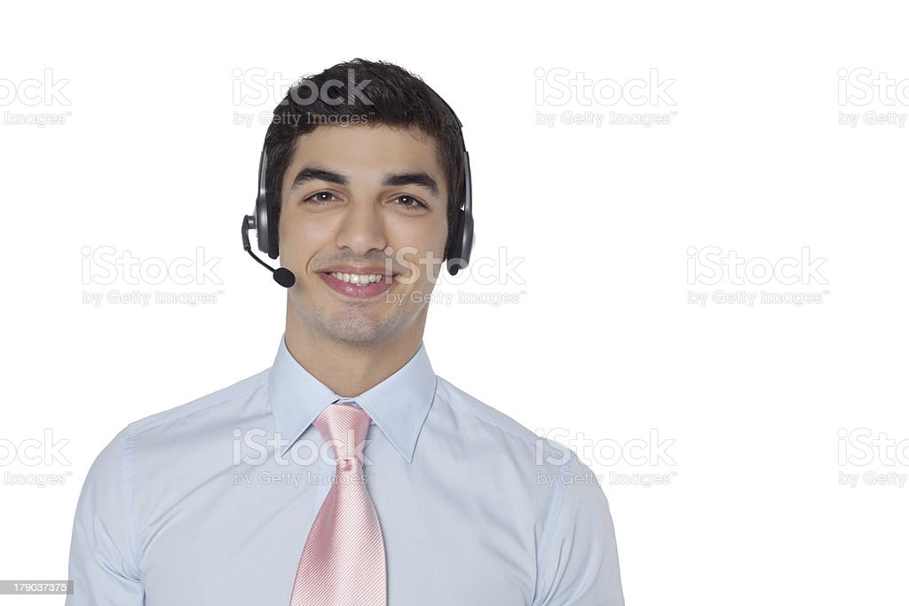 friendly customer service royalty-free stock photo