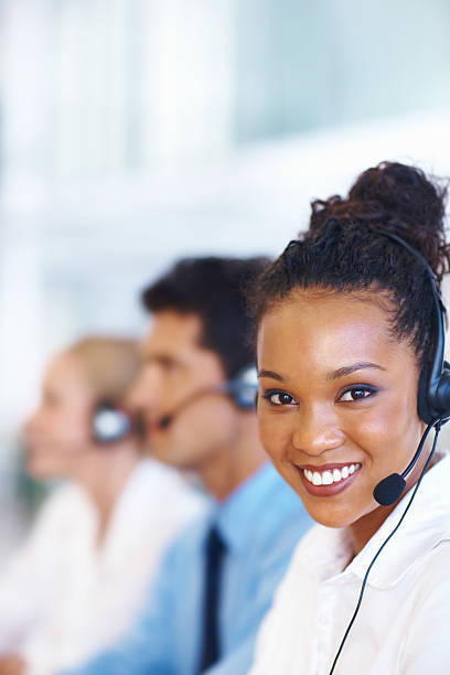 Friendly customer service stock photo