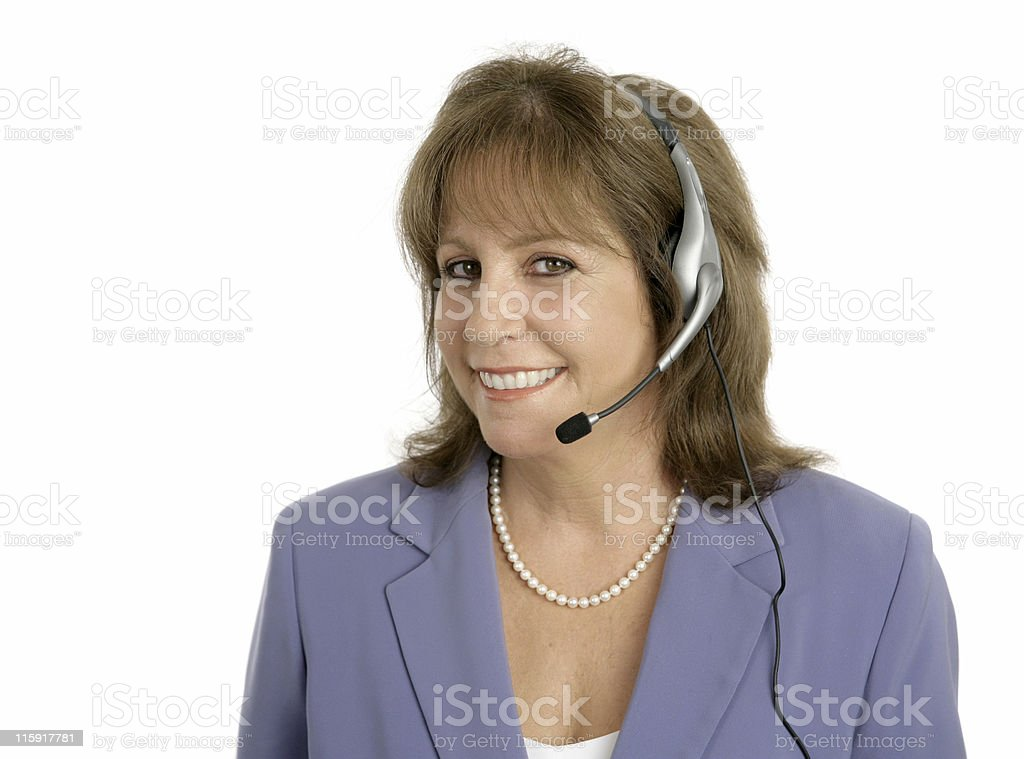 Friendly Customer Service Rep royalty-free stock photo