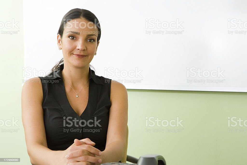 Friendly customer service representative royalty-free stock photo