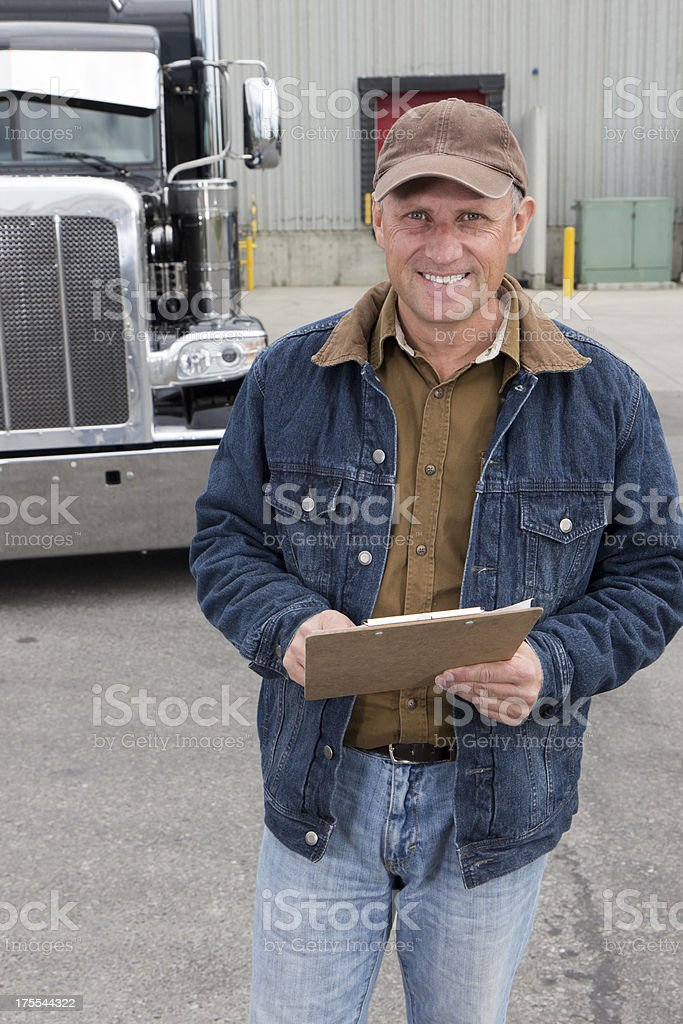 Friendly Delivery Person royalty-free stock photo