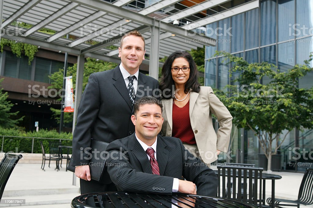 Friendly diverse business team royalty-free stock photo