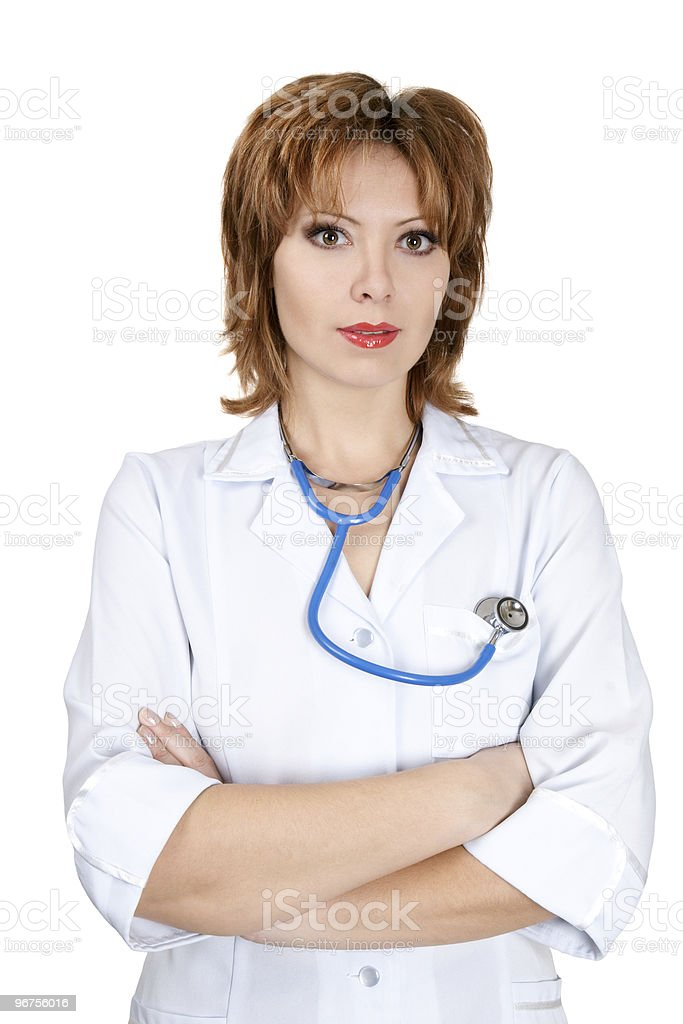 Friendly doctor royalty-free stock photo