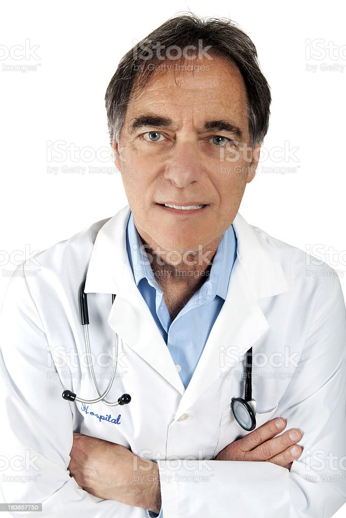 Friendly Doctor toothy smile royalty-free stock photo