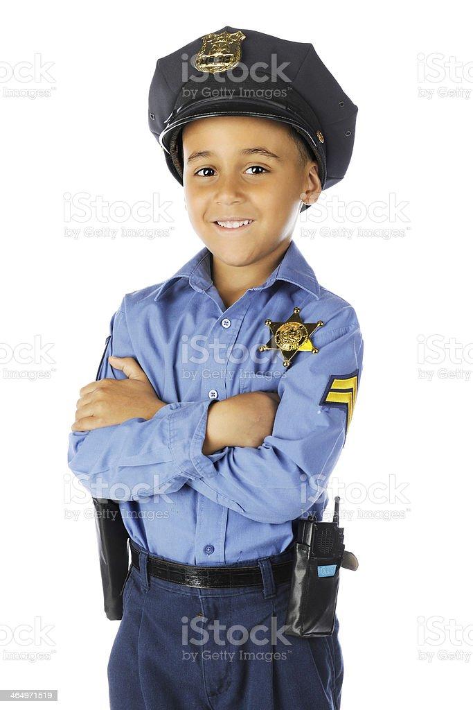 Friendly Elementary Cop stock photo