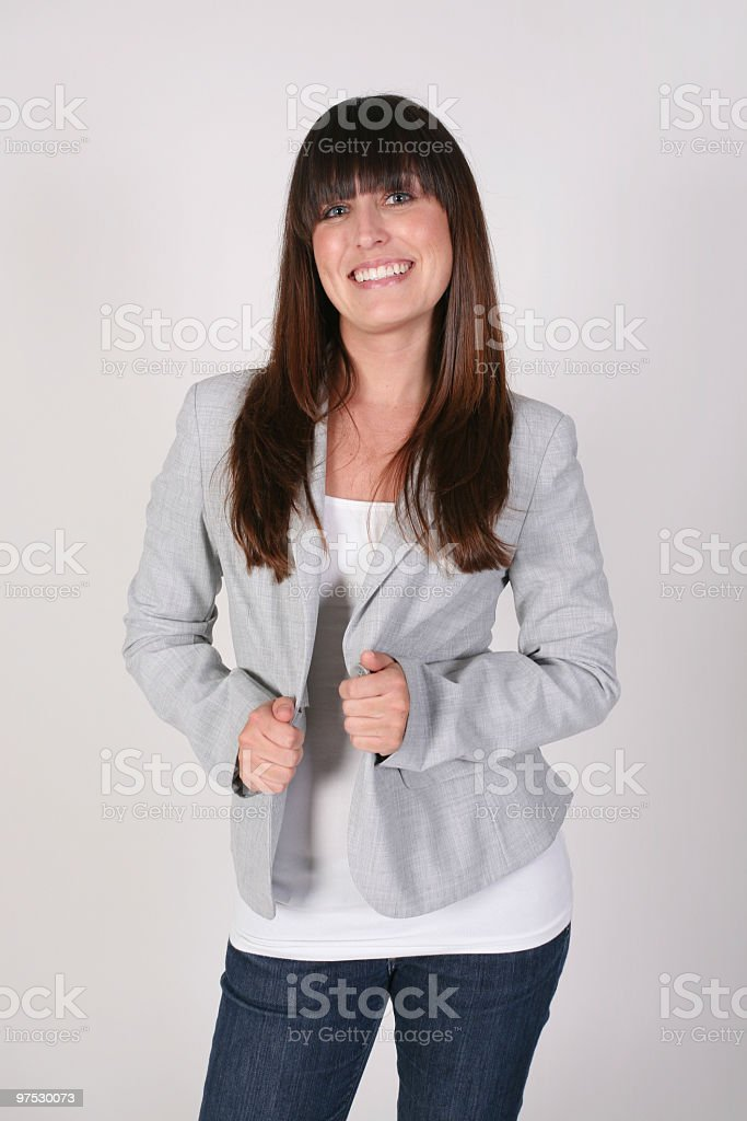 Friendly female royalty-free stock photo