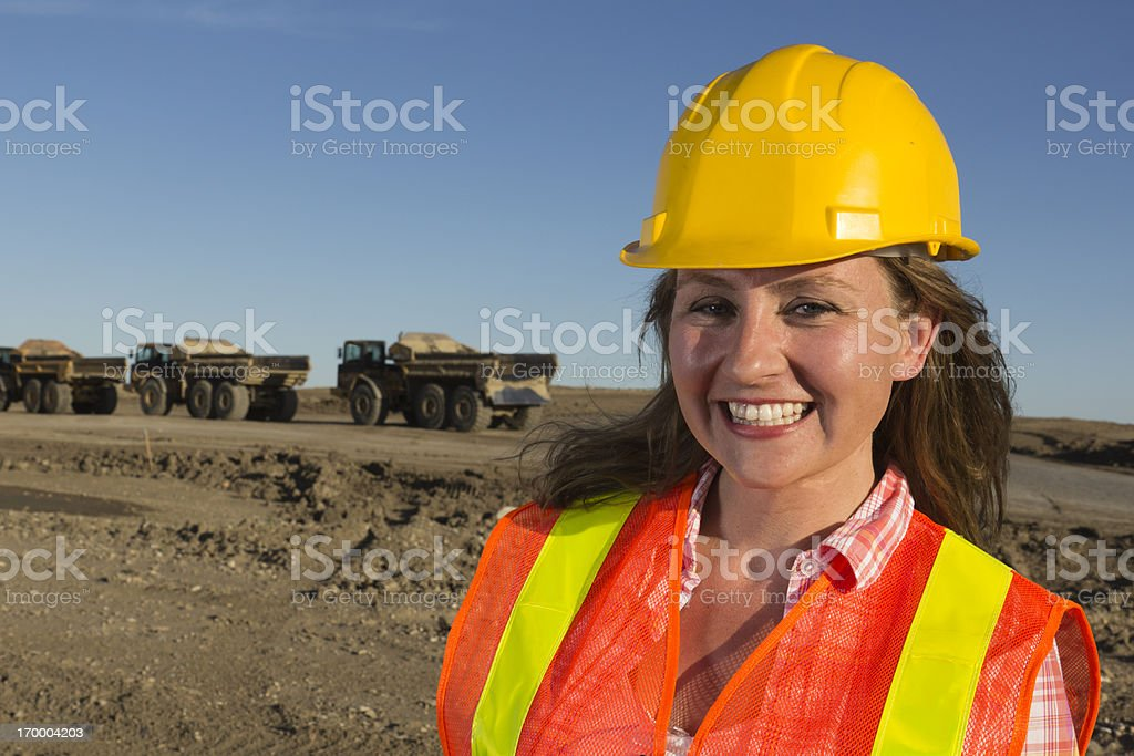 Friendly Female Worker royalty-free stock photo