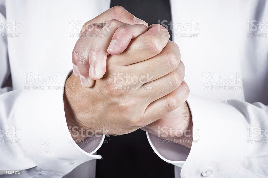 friendly gesture royalty-free stock photo