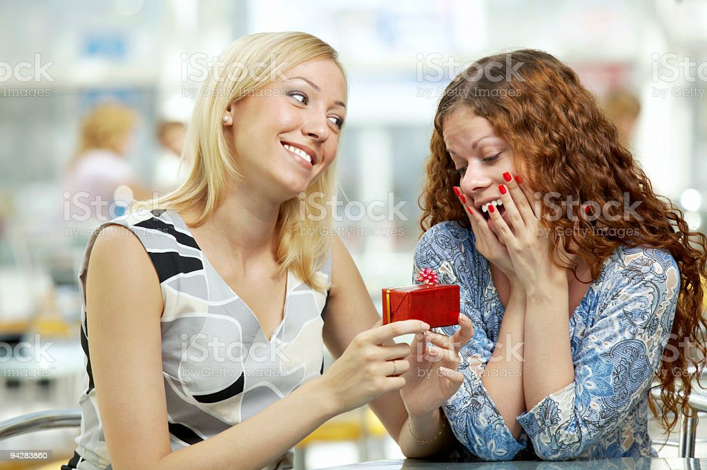 Friendly gift  Adult Stock Photo